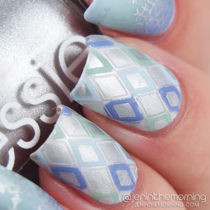 Advanced stamping in cool, winter tones