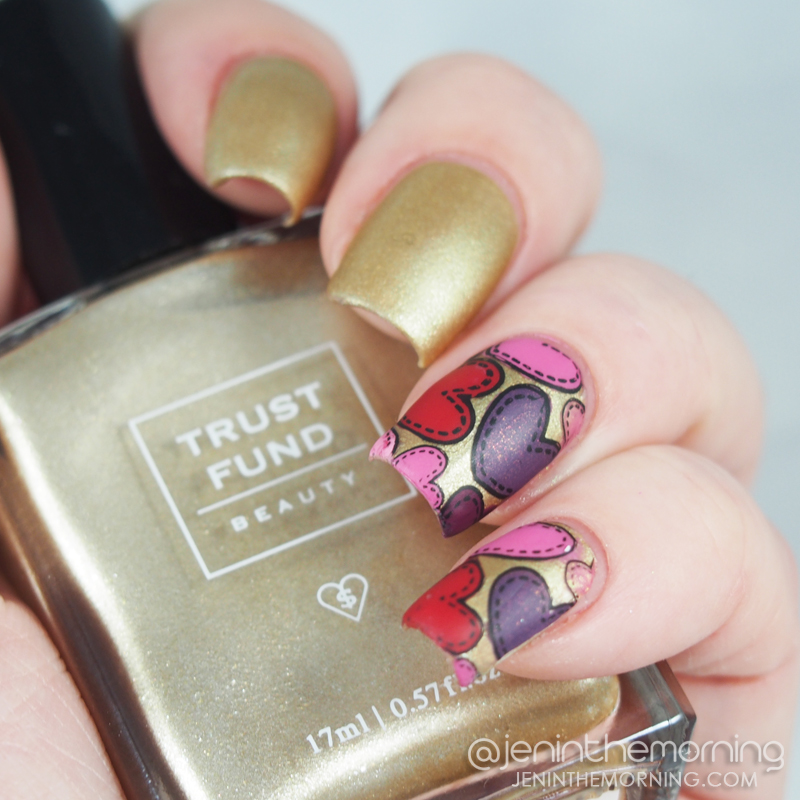 Trust Fund Beauty - Champagne Problems with Valentine's Day Advanced Stamping