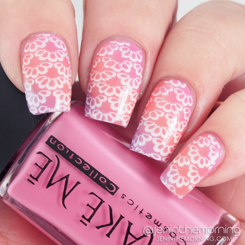 Stamped gradient featuring polishes from Make Me Collection