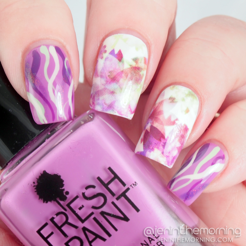 Water slide decal manicure