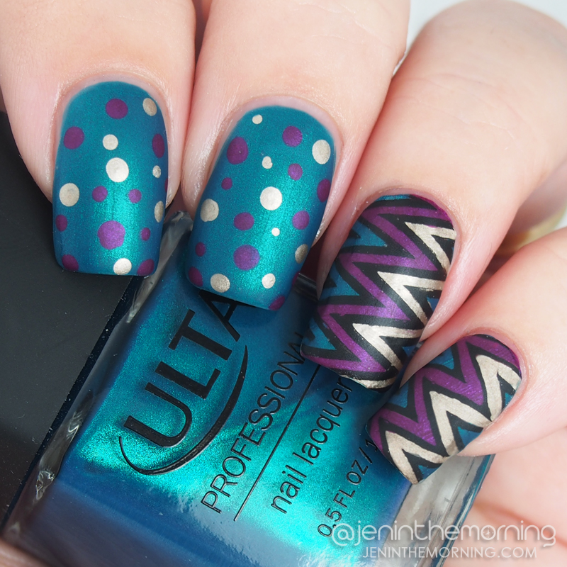 Advanced stamping featuring Ulta - Holiday in Turqs & Caicos and NOPI Pretty in PLum